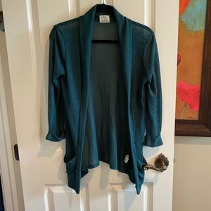 Pins and Needles Teal Cardigan